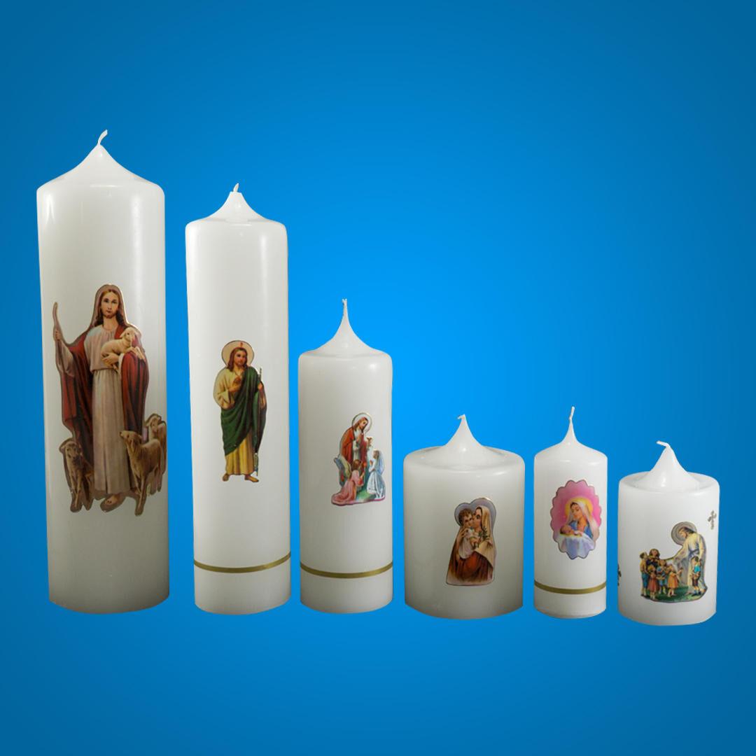 Lumânări cu poze Sfinte